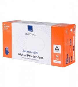 Medical Supplies- Abena Antimicrobial nitrile gloves