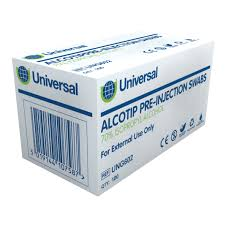 Medical Supplies- Steret Alcowipes Swab Pre Injection