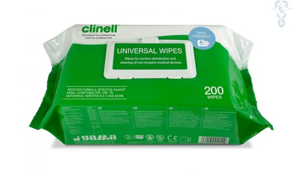 Medical Supplies-Clinell Universal Wipes 200